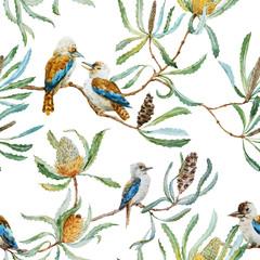 NaklejkaAustralian kookaburra bird pattern