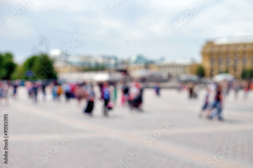 Foto op Aluminium Abstract blurred city background