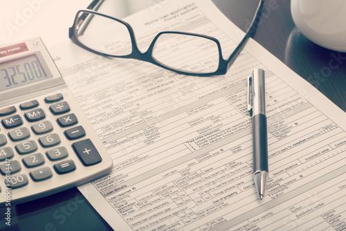 Fototapeta Home loan application form obraz