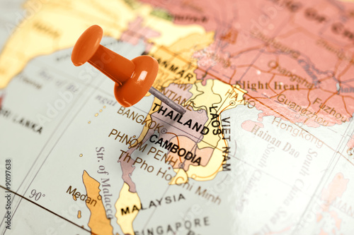 Location Thailand. Red pin on the map.