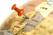 Location Niger. Red Pin On The...