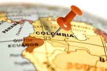 Location Colombia. Red Pin On ...