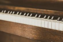 Old Vintage Piano Keys