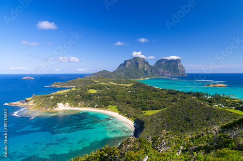 Fotobehang Eiland View over Lord Howe Island, Australia