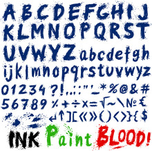 Hand Drawn Ink Stylized Font.