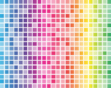 Rainbow Squares With White Grid Background