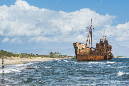 Foto op Canvas Schip Old rustic big ship