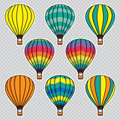 Vector set with balloons