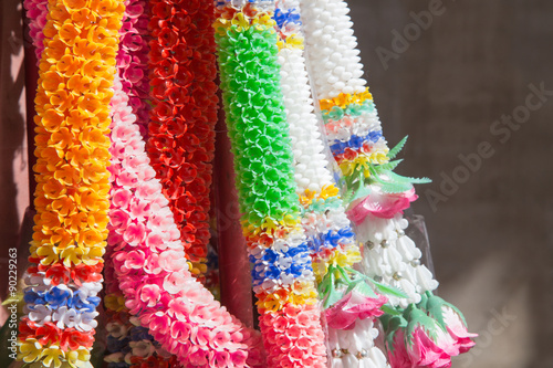 Fotografie, Obraz  Thai flower garland