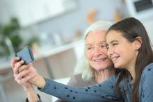 Taking A Photo With Grandma