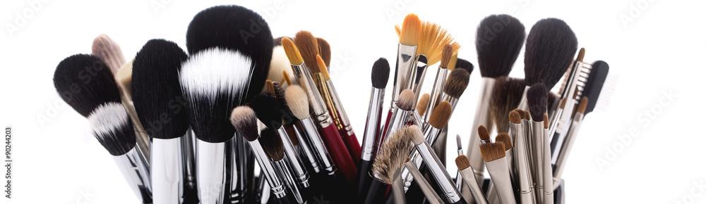 Fotografía Set of make-up brushes