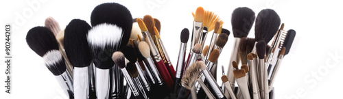 Fotografía  Set of make-up brushes