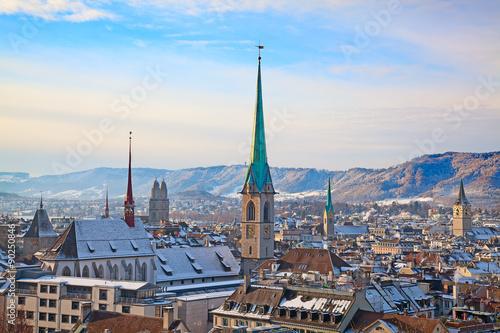 Poster Artistique Zurich in winter