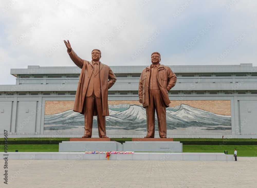 Fototapety, obrazy: Grand Monument  on Mansu Hill in Pyongyang.