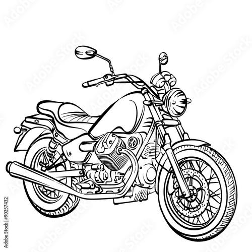 Keuken foto achterwand Motorfiets Motorcycle classic