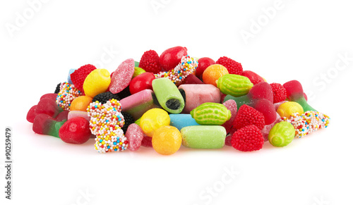 Sweet colorful candy, isolated on white