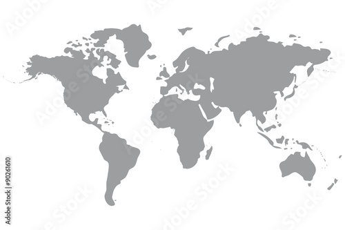 Spoed Fotobehang Wereldkaart world map