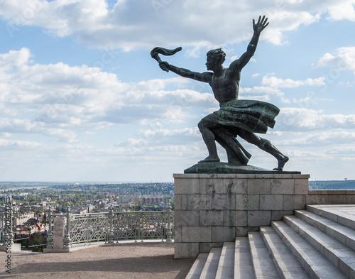 liberty statue of Budapest Wallpaper Mural
