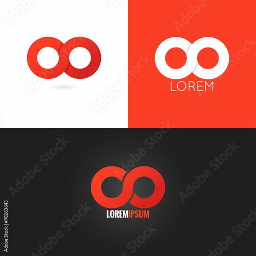infinity symbol logo design icon set background Wall mural