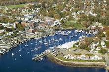 Aerial View Of Bar Harbor In A...