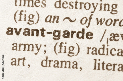Stampa su Tela Dictionary definition of word avant garde