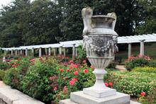 An Ornamental Stone Urn In The Italian Garden At Maymont Park, Richmond, Virginia