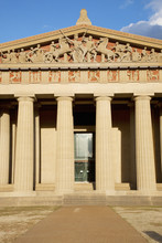 The Parthenon, Nashville, Tennessee, Centennial Park, Full Scale Replica Of Greek Parthenon At Sunset.