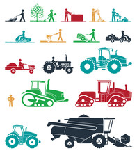 Set Of Different Types Of Agri...