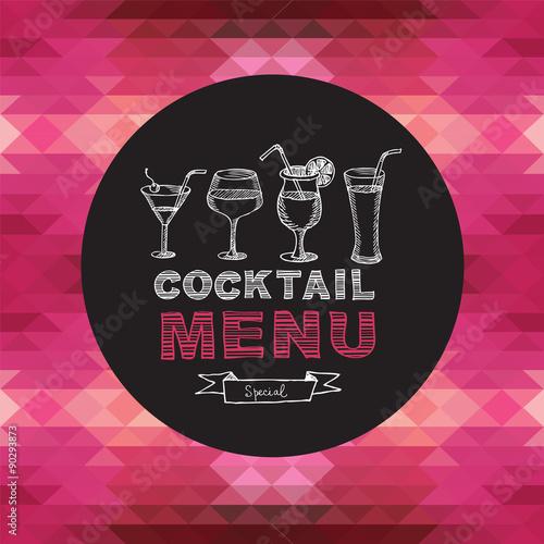 menu-bar-koktajlowy-ilustracja-wektorowa-na-rozowym-tle