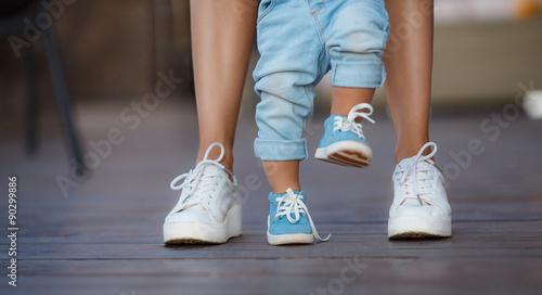 Fotografia, Obraz  The first steps of the kid