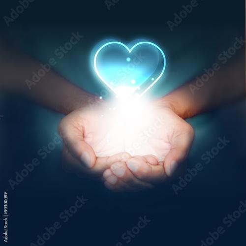 Fotografie, Obraz  mani, amore,  san Valentino, ti amo, cuore