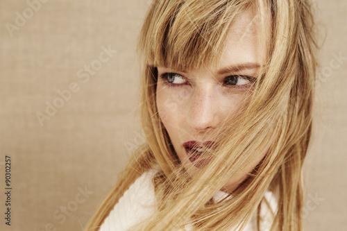 Fotografie, Obraz  Beautiful blond woman  looking away