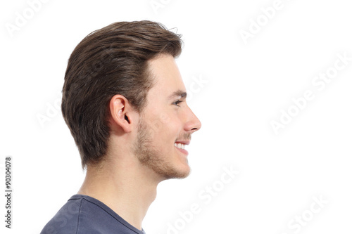 Fotografía  Side view of a handsome man facial portrait