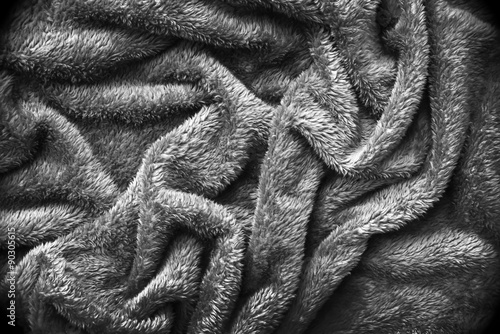 Grey soft blanket texture background Buy this stock photo and
