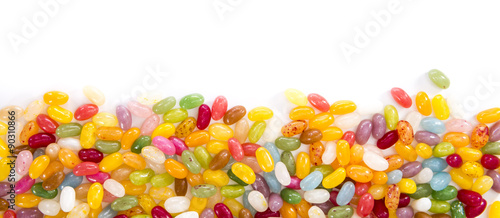 Poster Confiserie Jelly Beans (isolated on white)