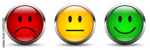 Fototapeta  Smiley icon set - Bewertung