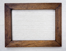 Wooden Picture Frame On Canvas...
