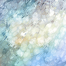 Glass Textured Background In Blue Teal And White Colors, Rippled Glassy Motion