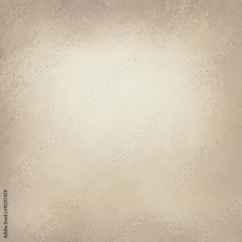 Fotografia, Obraz  old brown paper background with gold color hue and darker brown grunge borders,