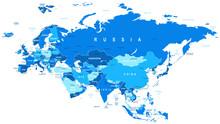 Eurasia - Map - Illustration. Eurasia Map - Highly Detailed Vector Illustration.