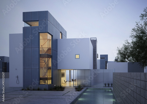 Fototapeta Building Photorealistic Render obraz
