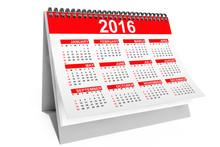 2016 Year Desktop Calendar