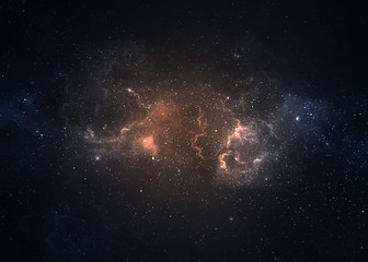Fototapeta Star field in deep space many light years far from the Earth