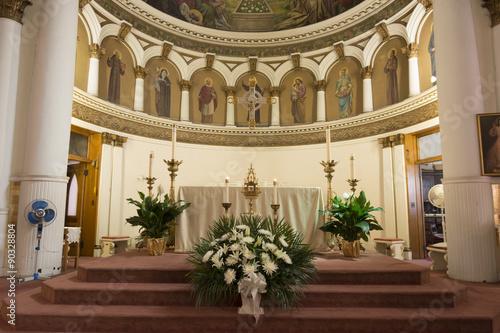 Fotografie, Obraz  Interior Catholic church Saint Leonard