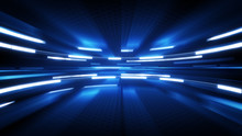 Shining Blue Glow Technology B...
