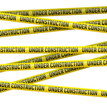Yellow Under Construction Dang...
