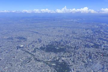 東京広域空撮/四谷上空より東京駅方向を望む
