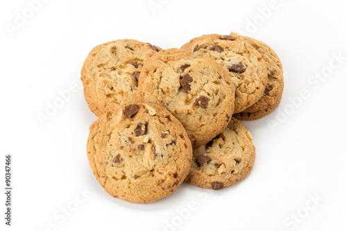 Tuinposter Koekjes milk chocolate toffee almond cookies