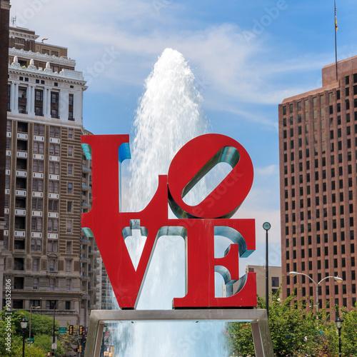 Fotografie, Obraz  Love statue in Philadelphia