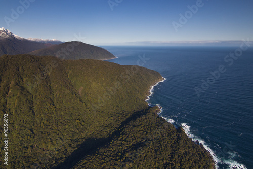 Aerial View of the Entrance to Milford Sound, New Zealand Canvas Print
